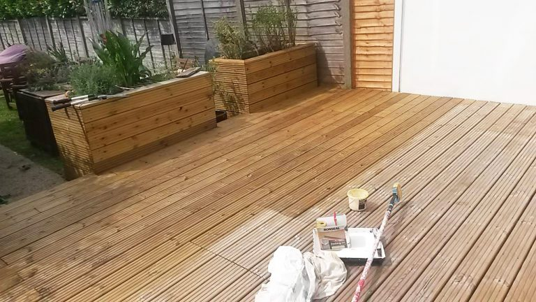 Decking repair and varnish