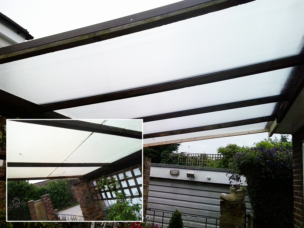 New polycarbonate roof