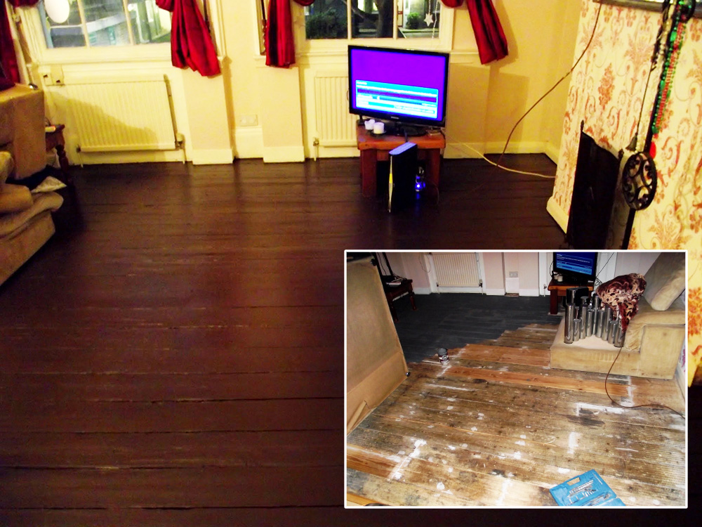 Old floor restoration